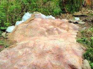 モアブ風の赤い岩にしてみました