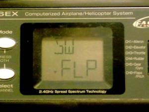 ミキシングのON/OFFをCH6のFLPレバーに設定