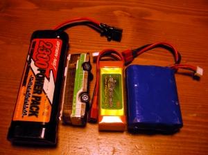 バッテリーの大きさ比較
