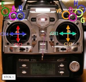 FF7 ヘリ用STICKモード1の配置