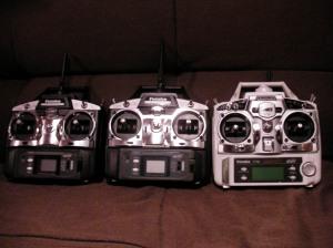 スティックプロポが3台。6EXはマイチェンしてました。