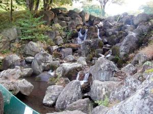 ダイナミックな岩場でしたが、水がOUT!