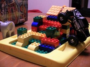 レゴバスの蓋の上のコース